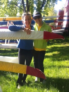 With Lisa at CBC before rowing on May 27, 2013