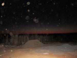 Orbs at sunrise
