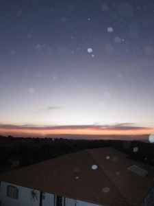 Sunset with orbs