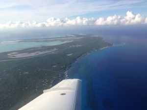 Landing on Long Island, Bahamas