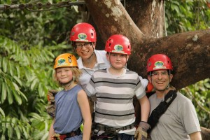 Just before ziplining in Manuel Antonio, Costa Rica