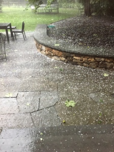 Backyard hailstorm August 2015