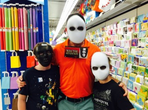 Masks in Party City